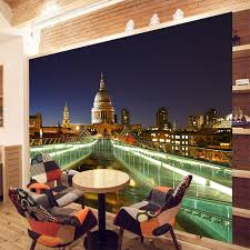 online buy wholesale london wall paper from china london wall london millennium bridge night building cityscape wallpaper for 3 d wall livingroom wallpaper mural rolls wall