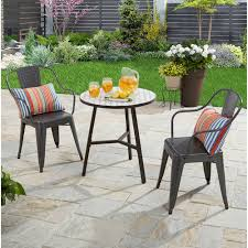 Patio Table And Chairs For Small Spaces Patio Furniture Walmart Throughout Table Small Decorations 1