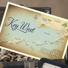 save the dates postcards vintage map postcard save the date key west fl wedding save the