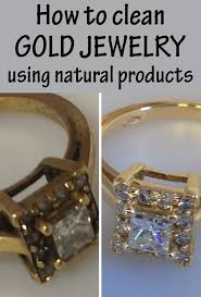 how to clean gold jewelry using products