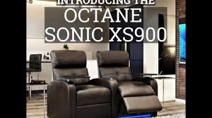 Custom Home Theater Seating Octane Sonic Xs900 Custom Home Theater Seating Youtube