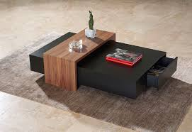 Coffee Table Cube Contemporary Coffee Table Wooden Rectangular With Storage