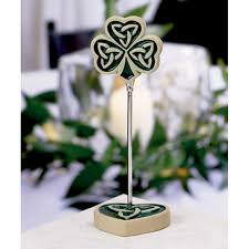 shamrock trinity love knot placecard holders 328 1109 love knot