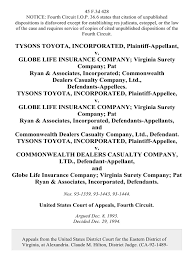 toyota company limited tysons toyota incorporated v globe life insurance company