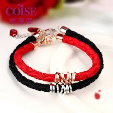 charm bracelet online images Coise couple bracelets red weave rope bracelet for women rose jpg