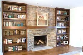 stacked stone over brick fireplace veneer plain design cost