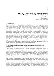 supply chain quality management pdf download available