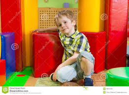 cute little boy in daycare gym stock photography image 38619182