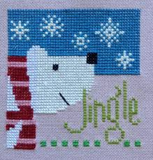 completed cross stitch lizzie kate christmas jingle lizzie kate