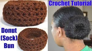 hair bun maker instructiins crochet tutorial donut sock bun maker simple quick crochet