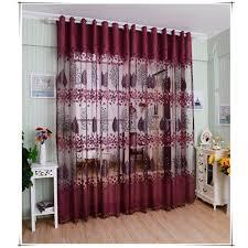 rideau fenetre chambre feuilles de haut grade européens modèle moitié ombrage grillée