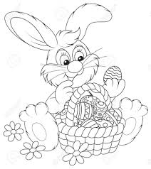 get this easter bunny coloring pages for preschoolers 73610