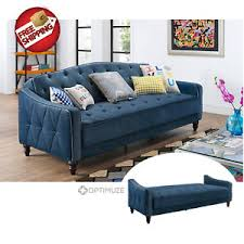 vintage tufted sofa sleeper bed couch futon furniture living room
