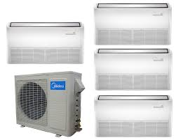 ductless mini split cassette midea dual zone 12k ceiling cassette mini split heat pump ac