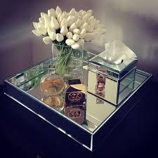 mirrored home decor mirror home decor white tulips mirror tray interior www