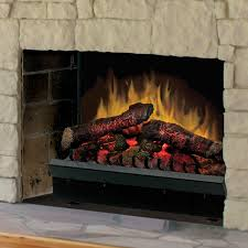 pleasant hearth electric fireplace logs with led glowing ember bed