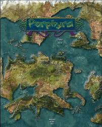 Pathfinder World Map Lands Of Porphyra Map Purple Duck Games Built From Pfrpg Ogc