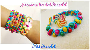 bracelet with beads images How to make a macrame bracelet with beads diy bracelet part jpg