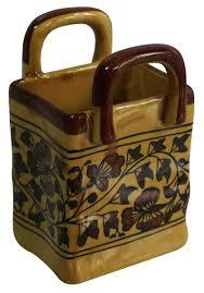 wholesale home decor items home décor items u2013 handmade ceramic basket u2013 caramel u0026 brown