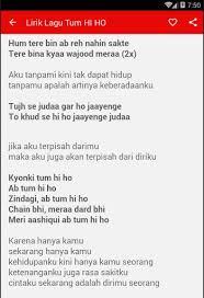 Lirik Lagu Lirik Lagu Tum Hi Ho Play Softwares Acvzeiaen1vl