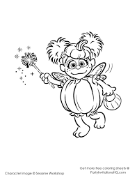 sesame street abby coloring pages coloring