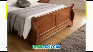 louie dark wooden bed frame youtube