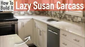 build corner kitchen sink cabinet 36in lazy susan carcass frameless rogue engineer