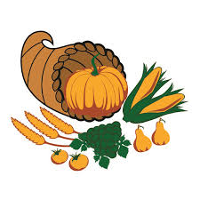 thanksgiving day harvest cornucopia cuttable design