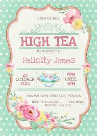 high tea invitation printable for bridal by westminsterpaperco
