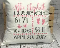 personalized pillows for baby personalized pillows etsy