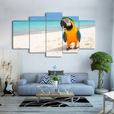 parrot home decor wall art canvas hd print frame pictures home decor living room 5