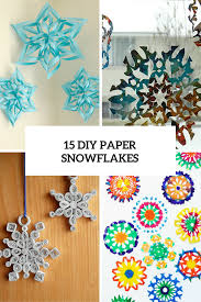 Diy Paper Christmas Decorations 15 Diy Paper Snowflakes For Winter And Christmas Decor Shelterness