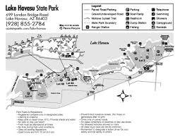 Island Lake State Park Map by Maps Lake Havasu State Park