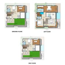 Triplex Floor Plans Vishal Sanjivini By Vishal Project Limited 4 Bhk Villas In Orr