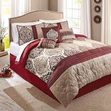 red and grey comforter set home design and decoration