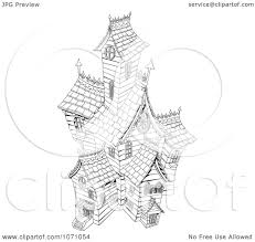 haunted house clipart free clipart black and white sketched haunted house royalty free