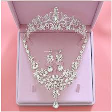 crystal bridal necklace sets images Crystal wedding bridal jewelry set jpg