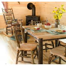 Rustic Hickory And Oak - Oak dining room set
