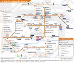 London Metro Map by London Overground Train Rail Maps