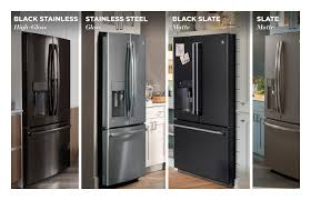gray kitchen cabinets with black stainless steel appliances the new world of appliance finishes ge appliances