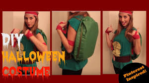 last minute diy halloween costume for women cute ninja turtle