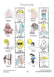 kids love to learn synonyms with these fun cut and paste synonyms