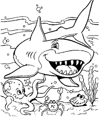 sea animals coloring pages sea animals shark coloring pages