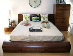 Modern Bedroom Wall Clocks Walnut Modern Queen Bed Frame For Contemporary Bedroom Ideas With