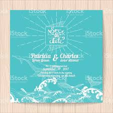 Marriage Invitation Card Sample Wedding Invitation Card Templates Ocean Theme Stock Vector Art