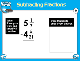 adding and subtracting fractions smart board lessons