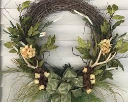 antler wreaths etsy