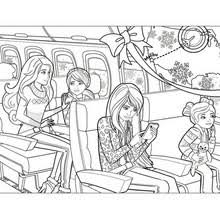barbie u0027s christmas tree coloring pages hellokids