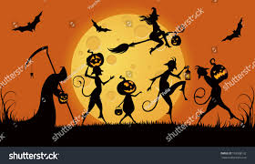the background of halloween stock vector illustration autumn night halloween stock vector