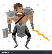 vulcan hephaestus greek roman god fire stock vector 565084825